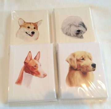 Dog Breed Note Cards| Custom Designed Dog Breed Note Cards