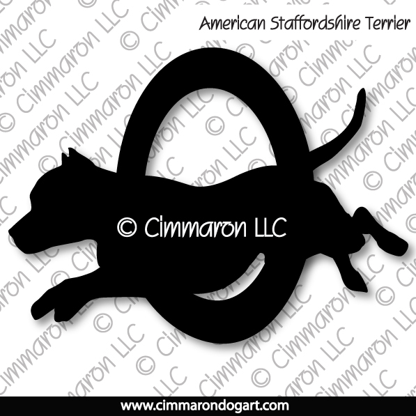 American Staffordshire Agility Silhouette 004