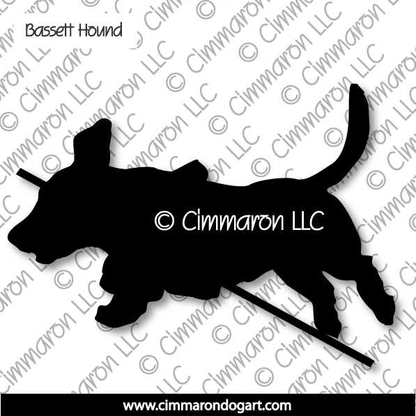 Basset Hound Jumping Silhouette 004