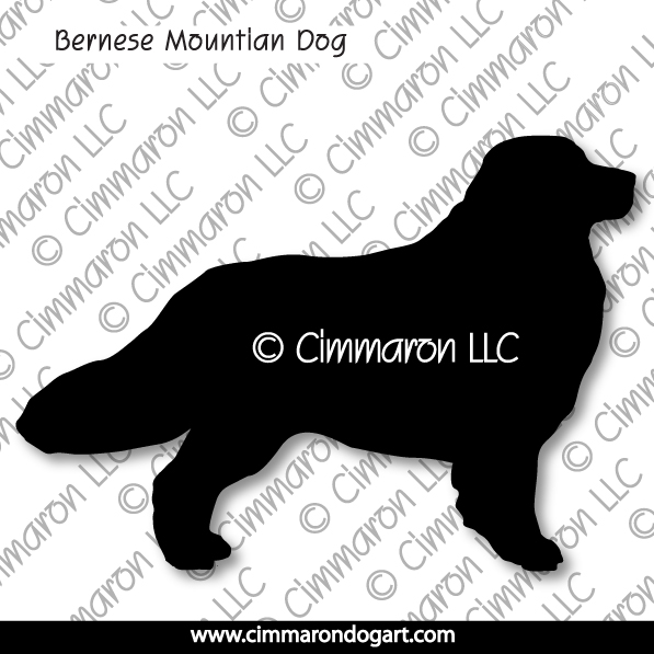 Bernese Mountian Dog Standing Silhouette 002
