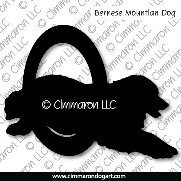 Bernese Mountian Dog Agility Silhouette 004