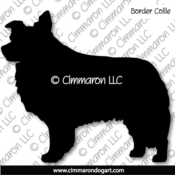 Border Collie Standing Silhouette 002