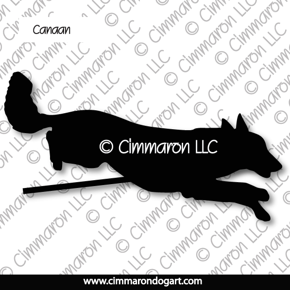 Canaan Dog Jumping Silhouette 004