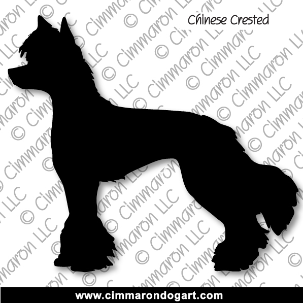 Chinese Crested Silhouette 001