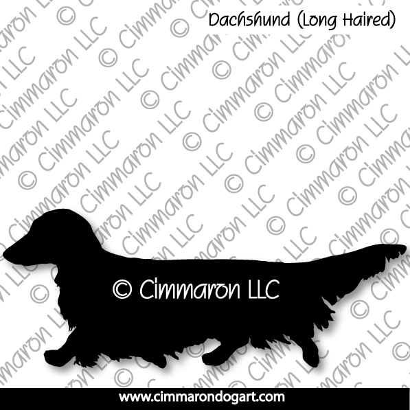 Dachshund Longhaired Gaiting Silhouette 011