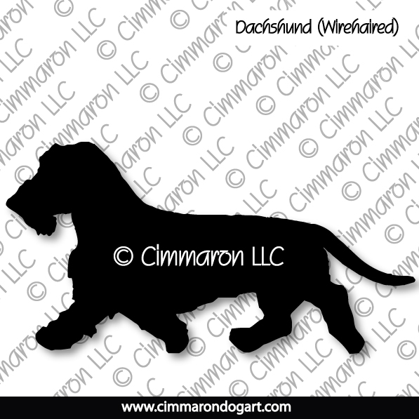 Dachshund Wirehaired Gaiting Silhouette 017