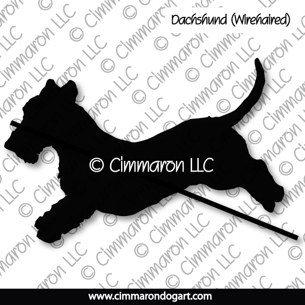 Dachshund Wirehaired Jumping Silhouette 019