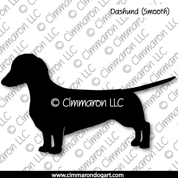Dachshund Smooth Standing Silhouette 002