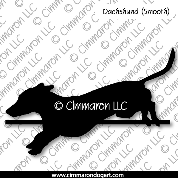 Dachshund Smooth Jumping Silhouette 005