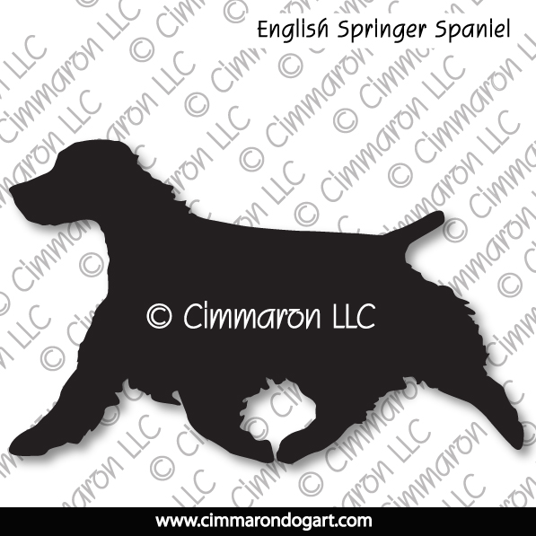 English Springer Spaniel Trotting Silhouette 004