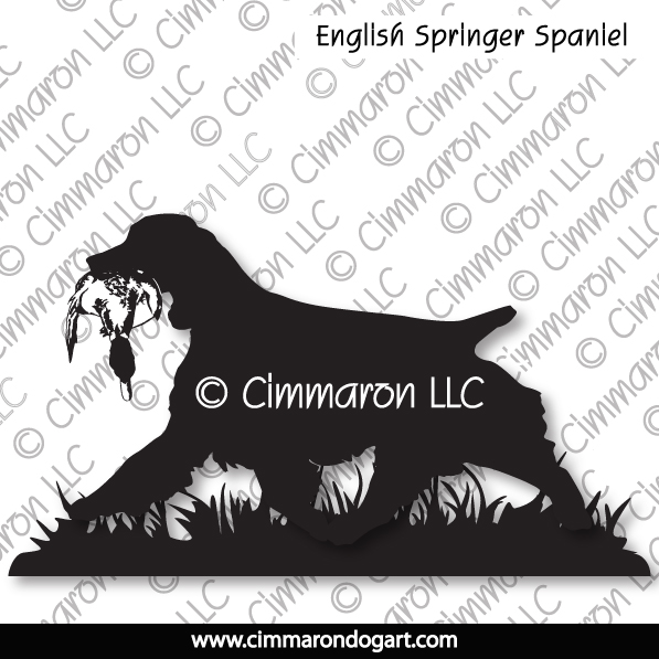 English Springer Spaniel Field Silhouette 009