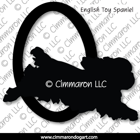 English Toy Spaniel Agility Silhouette 003