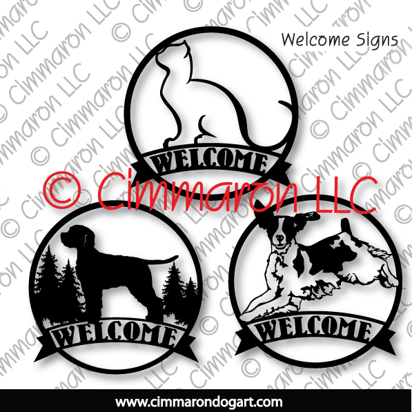 Metal Round Welcome Signs