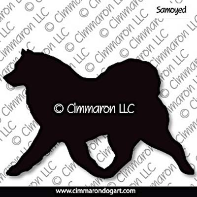 Samoyed Gaiting Silhouette