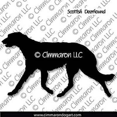 Scottish Deerhound  Gaiting Silhouette