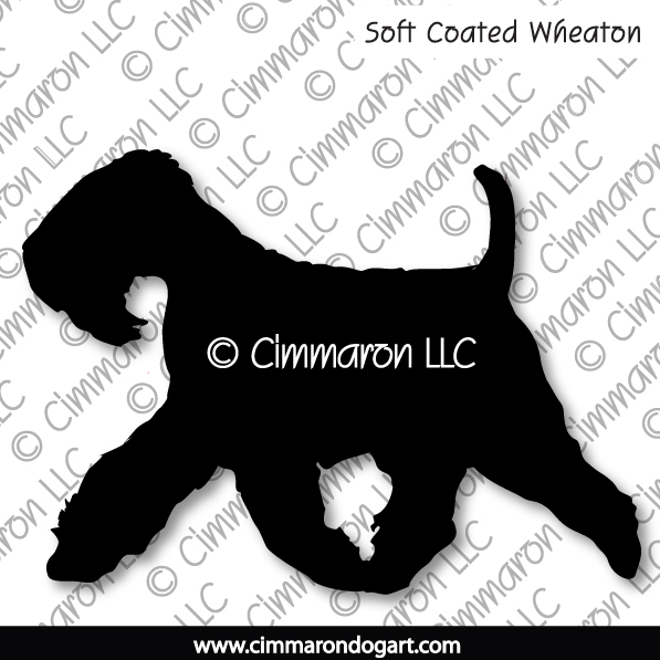Soft Coated Wheaten Terrier Gaiting Silhouette