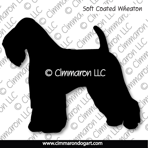 Soft Coated Wheaten Terrier Silhouette