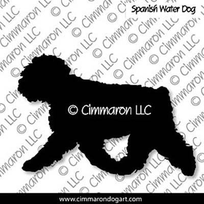 Spanish Water Dog Gaiting Silhouette