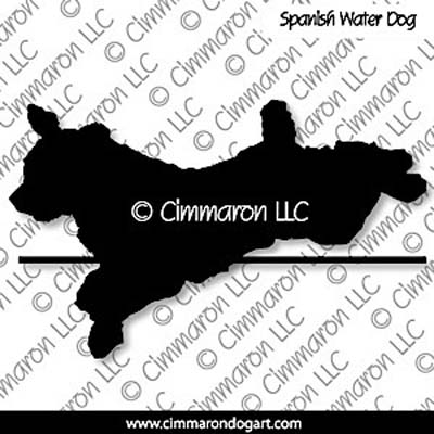 Spanish Water Dog Jumping Silhouette