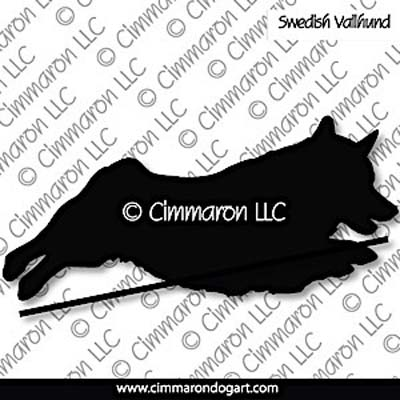 Swedish Vallhund Bob Tail Jumping Silhouette