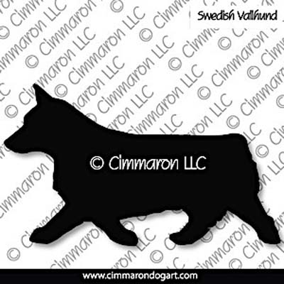 Swedish Vallhund Bob Tail Gaiting Silhouette