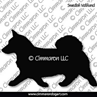 Swedish Vallhund Gaiting Silhouette