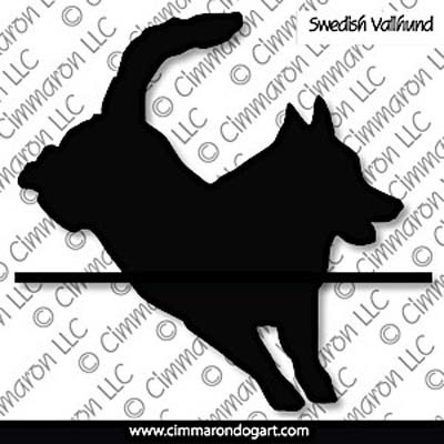 Swedish Vallhund Jumping Silhouette