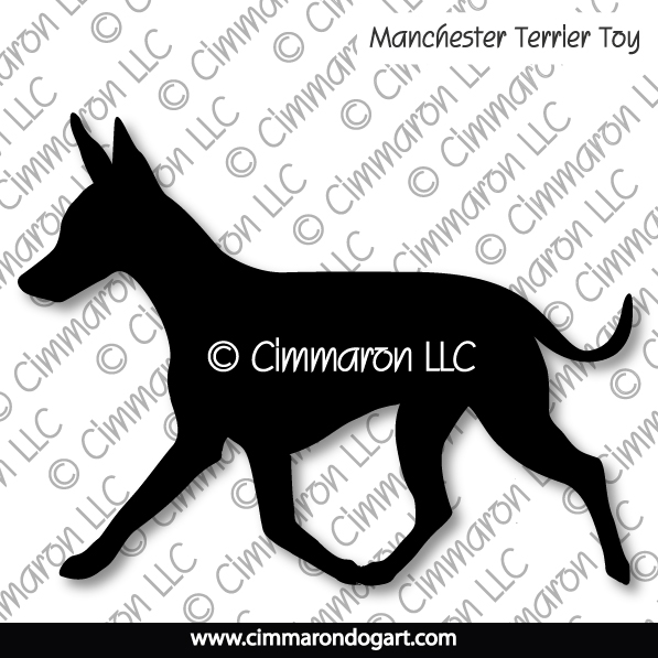 Manchester Terrier Toy Gaiting Silhouette