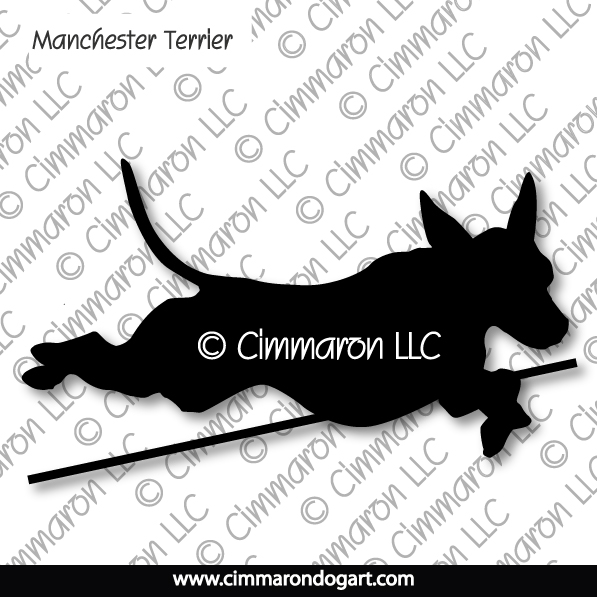 Manchester Terrier Toy Jumping Silhouette
