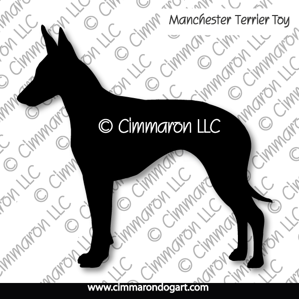 Manchester Terrier Toy Silhouette