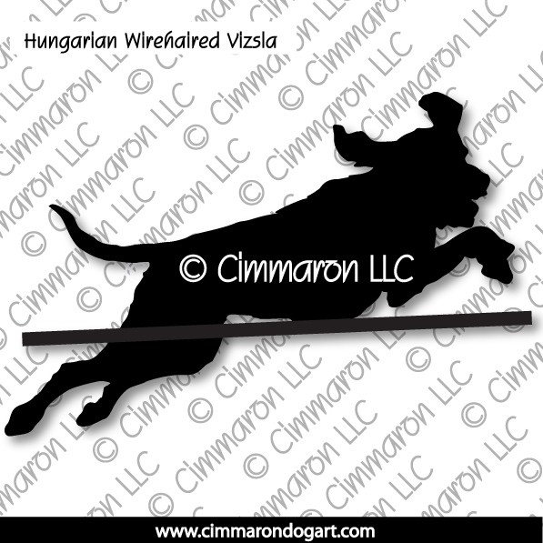 Hungarian Wirehaired Vizsla Jumping Silhouette