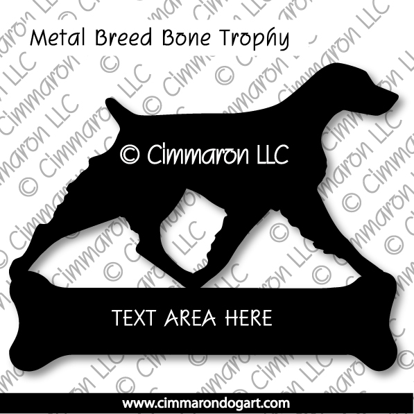 metalbone001 - Metal Award Bone Shaped Base
