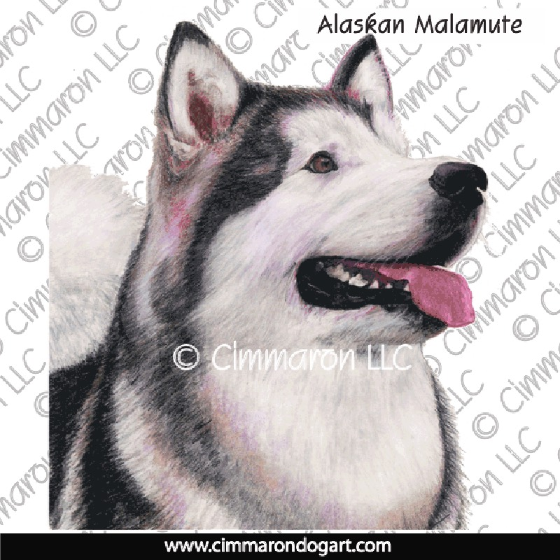 almal008h - Alaskan Malamute Drawing Hooded Sweatshirt