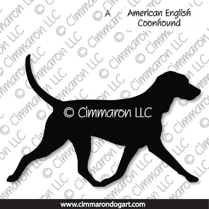 amencoon002n - American English Coonhound Gaiting Note Cards