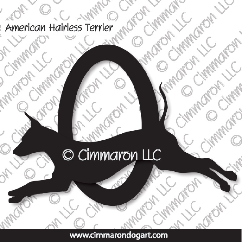 am-hairless003d - American Hairless Terrier Agility Decals