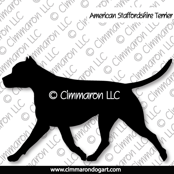amstaff003d - American Staffordshire Terrier Gaiting Decals