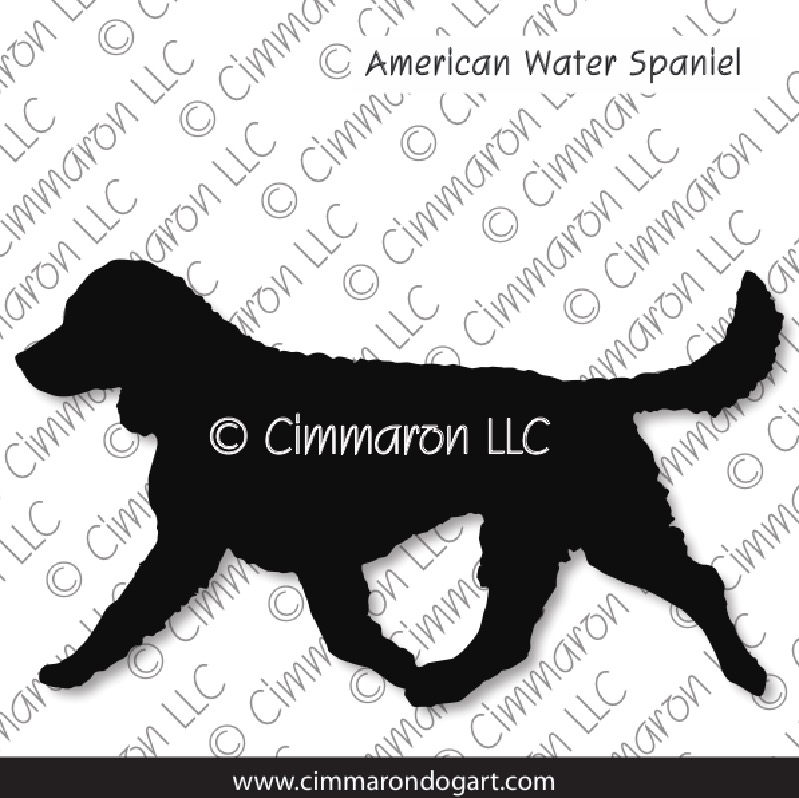 am-water002d - American Water Spaniel Gaiting Stickers - Decals