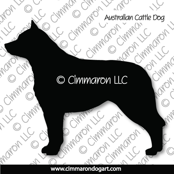 acd003d - Australian Cattle Dog Standing Stickers