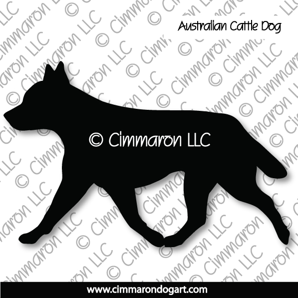 acd004d - Australian Cattle Dog Gaiting Stickers
