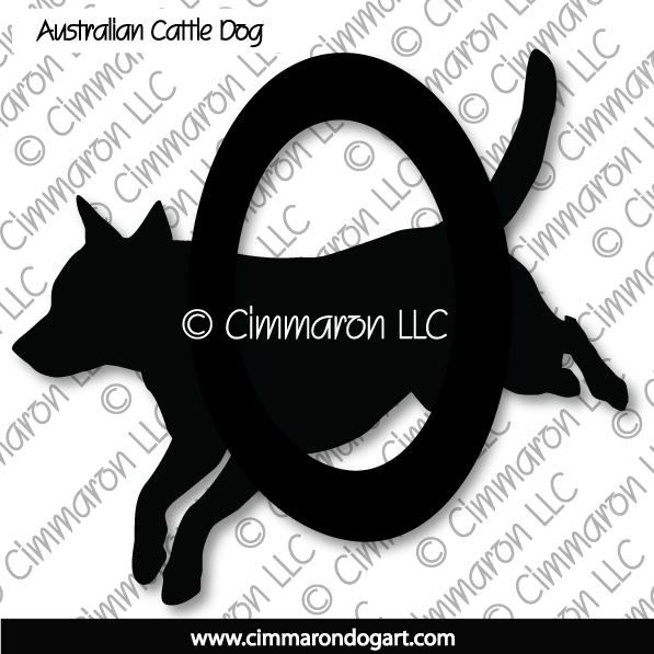 acd005d - Australian Cattle Dog Agility Stickers