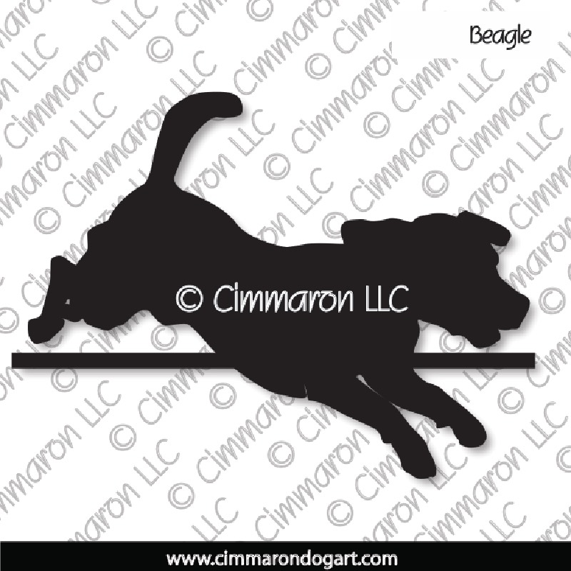 beagle006d - Beagle Bar Jump Decals