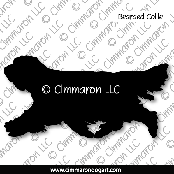 beardie002d - Bearded Collie Gaiting Stickers - Decals
