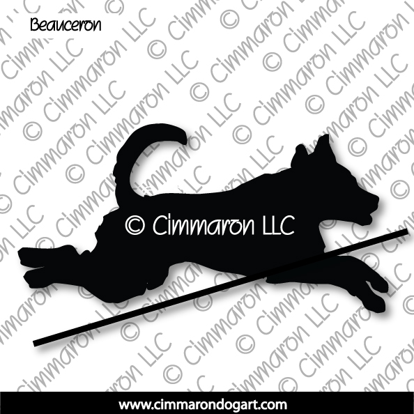 beau006d - Beauceron Jumping Silhouette Stickers