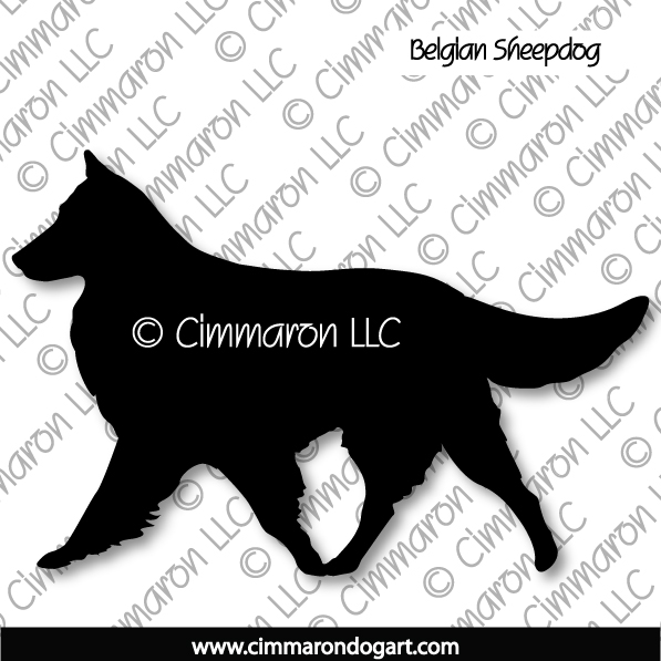 belgians002d - Belgian Sheepdog Gaiting Stickers