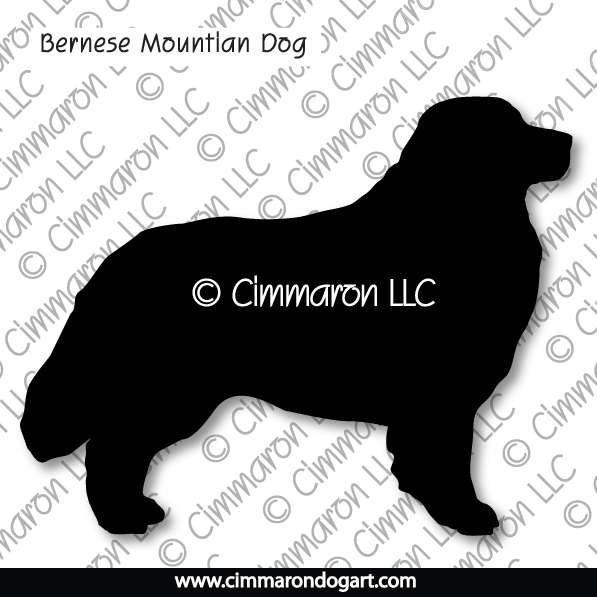 bmd001tote - Bernese Mountain Dog Silhouette Tote Bag