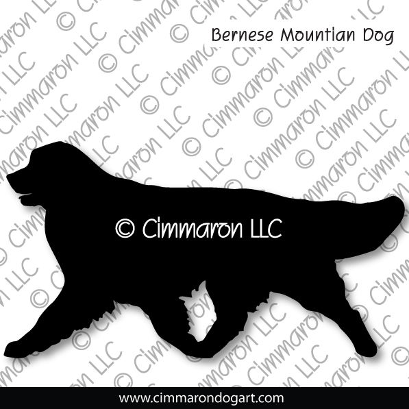 bmd003d - Bernese Mountain Dog Gaiting Stickers - Decals