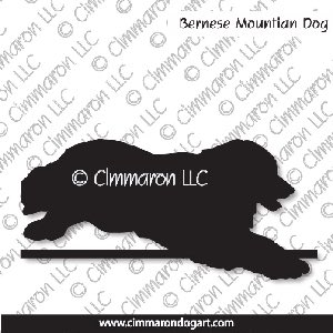 bmd005tote - Bernese Mountain Dog Jumping Tote Bag