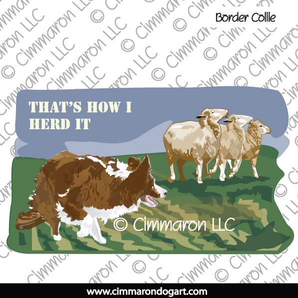 bdcol016ls - Border Collie Color Herding  Long Sleeved Ts