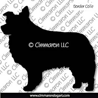 Border Collie Silhouette Stickers - Decals