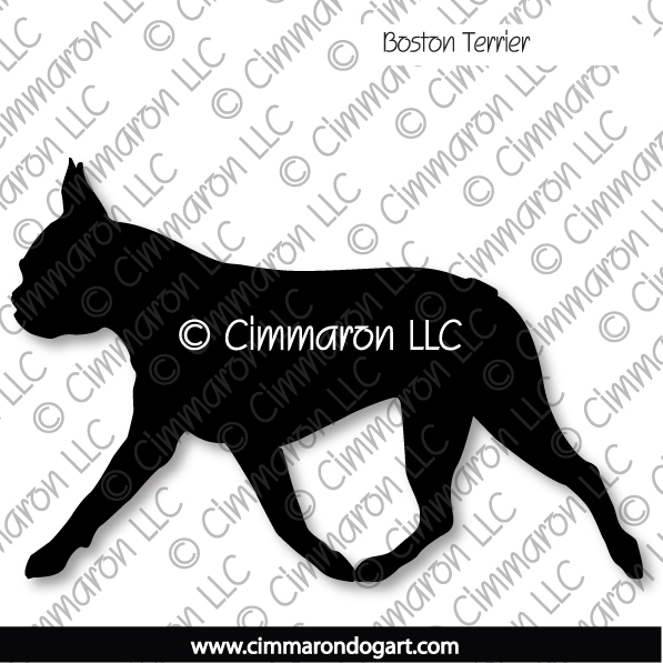 boston004d - Boston Terrier Gaiting Stickers - Decals